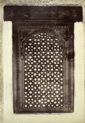Tippu's Tomb. [Perforated stone window in Tipu Sultan's Tomb, Shriringapattana.]